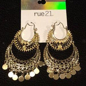 Rue 21  Goldtone Dangle Earrings